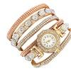 Casual Rhinestone Bracelet Analog Watch for Women