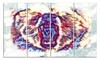Bold Bear- Animal Metal Wall Art 48x28 4 Panels