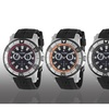 Calibre Men's Hawk Quartz Chronograph Rubber Strap Watch