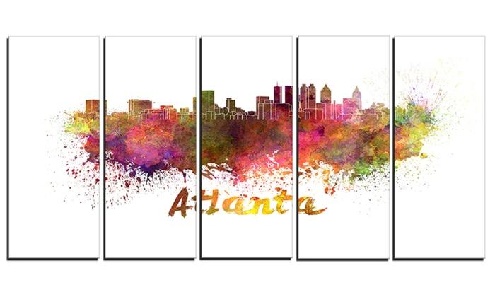 Atlanta Skyline - Cityscape Metal Wall Art | Groupon
