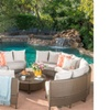 Alacati Wicker Sofa Set with Water-Resistant Cushions (10-Piece)