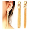 Golden Tassel Chain Earring