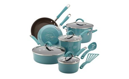 Rachael Ray Cucina Hard Porcelain Enamel Nonstick Cookware Set,12pcs. 8be38c66-07ff-43bd-9500-cb1f67baa673