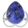 """Orchid jewelry's"" 7.15CTTW genuine sodalite st. silver ring"