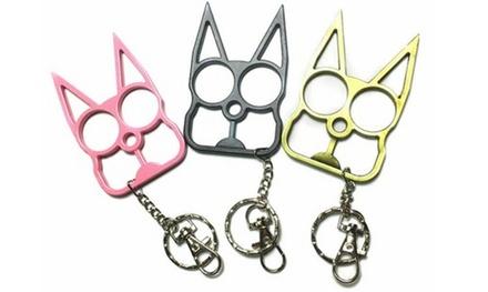 Outdoor safety Cat Self Defense Keychain