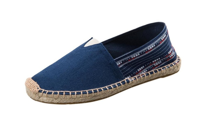 Womens Simple Canvas Slip On Shoes Flats