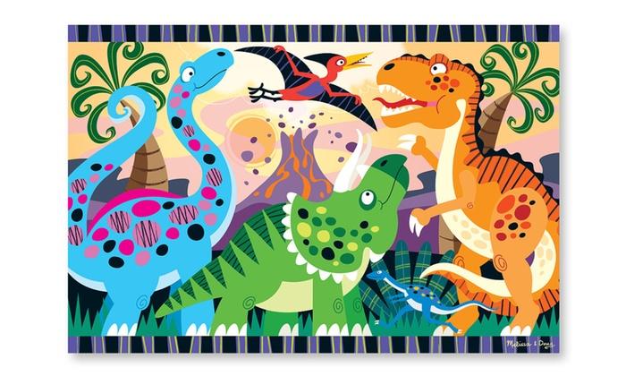 Melissa Doug Dinosaur Dawn Floor Puzzle 24 Pc 4425 Groupon