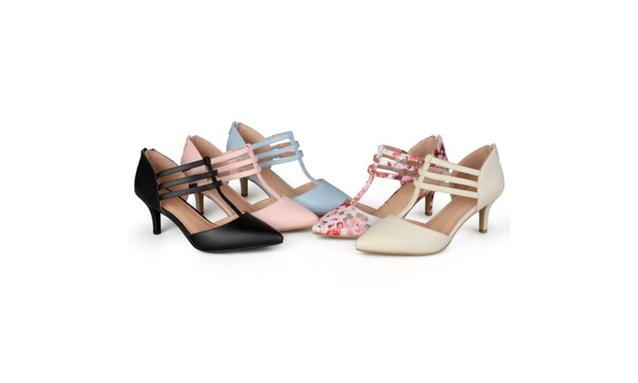 Journee Collection Womens Pacey Matte T-strap High Heels