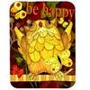 Carolines Treasures PJC1034LCB Happy Happy Day Owl Glass Cutting Board Large