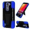 Insten Hard Hybrid Plastic Silicone Case For Lg Volt 2 Black/blue