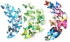 3D Single Winged Butterfly Wall Decor Magnets 12 PCS