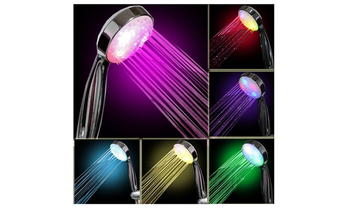 Water-powered Colorful LED Shower Head