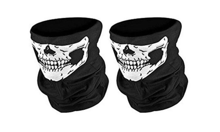 2 Pack Seamless Skull Face Tube Mask Face Mask