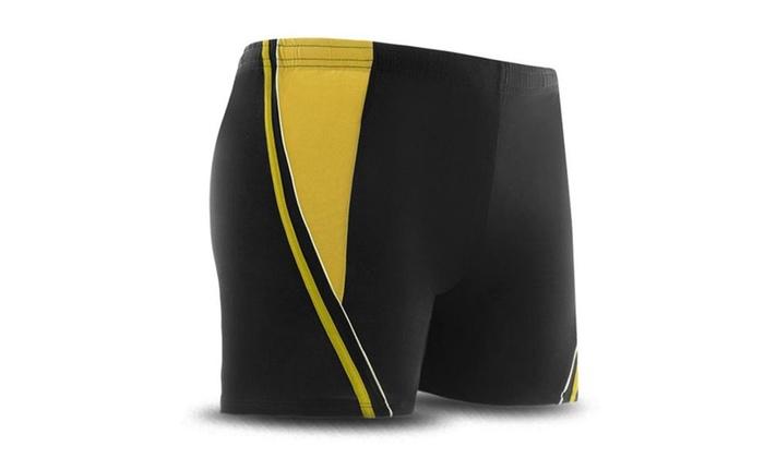 Men's Square Leg Short Swim Trunks Boxer Brief Shorts