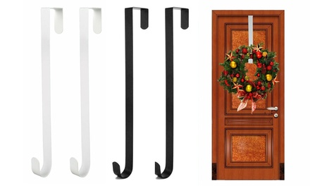 "15"" Wreath Metal Hook Over The Door Towel Coat Storage Hanger Heavy Duty"