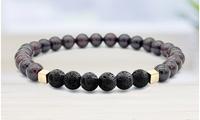 Mixed Lava Stone Chakra Diffuser Bracelet without Oils