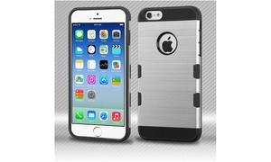 For Apple iPhone 6 6s 4.7 TUFF Brush Hybrid Shock Hard Protective Case