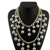 Fashion Beads Imitation Pearls Chain Collar Choker Statement necklaces