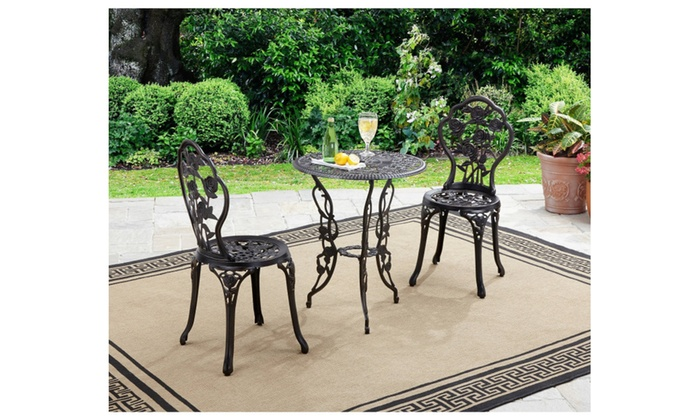 Better Homes And Gardens Rose 3 Piece Outdoor Bistro Set ...