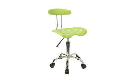 Flash Furniture Vibrant Chrome Computer Task Chair with Tractor Seat 5fd0a2aa-1e26-4fd7-bc02-c80b208932a2
