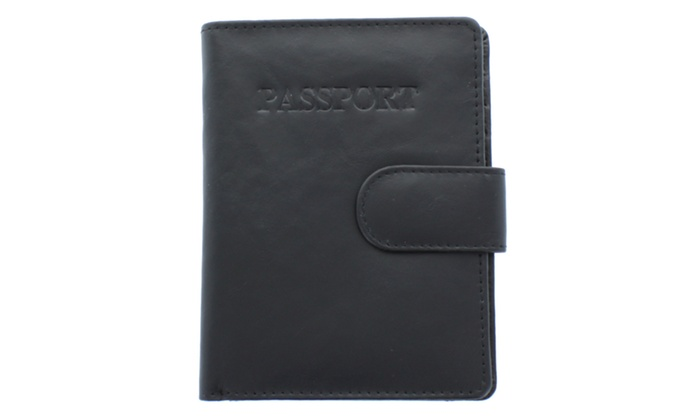Unisex Passport Case WLT-YL45BK in Black
