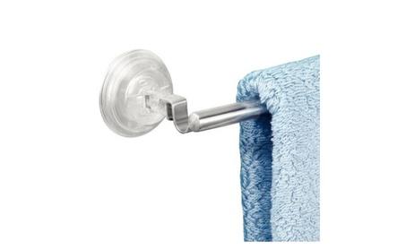 InterDesign Reo Power Lock Suction Towel Bar for Bathroom, Stainless S 1d978867-7bd7-4374-aaea-a9c0bc2918f5