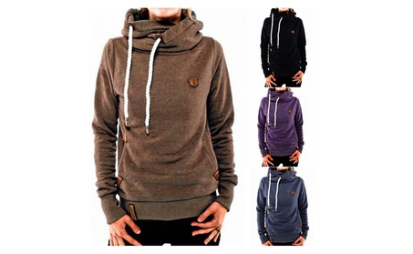 Long Sleeve Heaps Collar Hooded Hoodies Pocket Pullover Sweater bd198f2b-3622-4c29-a12e-41390399cfcf