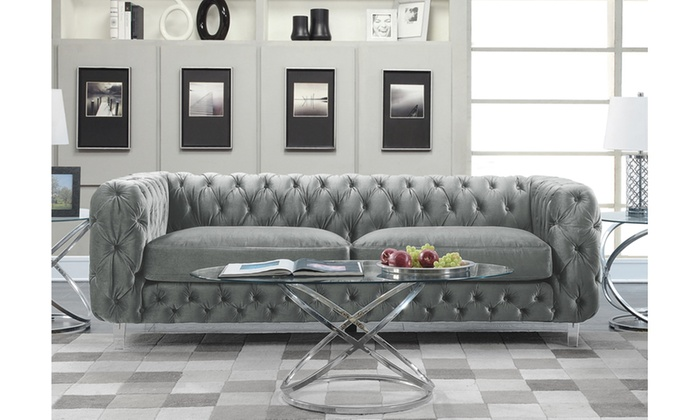 Castor Modern Contemporary Cushioned On Tufted Sofa