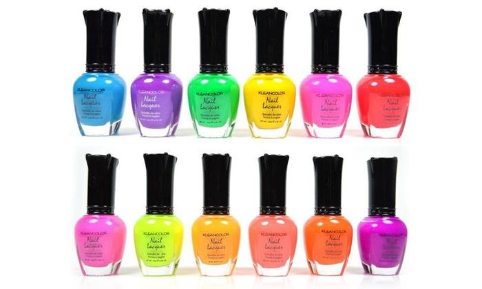 Kleancolor Neon Colors Nail Polish Set 12 Piece