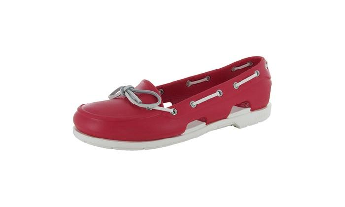 9dd41ee9e Crocs Womens Beach Line Slip On Boat Shoes