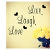 Live laugh love Inspirational Quote Vinyl Home Decor Wall Sticker