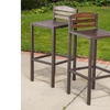 Shayna Outdoor Acacia Wood Bar Stool Set (2-Pack)