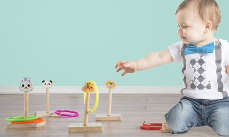 Hey! Play! Kids Zoo Animal Ring Toss Game Set ca3e20ad-a610-4551-a2b2-082187e7a785