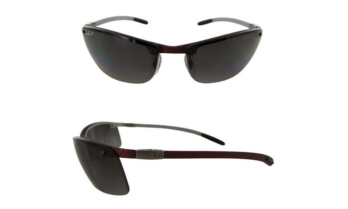 7ba499ecab Ray Ban Tech  RB8305 Carbon Fibre  Semi Rimless Polarized Sunglasses ...