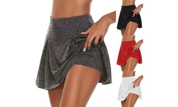 Women Sports Quick Drying Skort Skirt Active Athletic Yoga Fitness Skirts