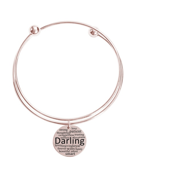 Rose Gold Pink Box Double Layer Bangle Sweetheart