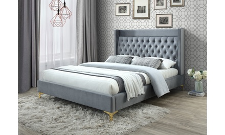 Malene Luxe and Glamour Platform Bed - Queen and King