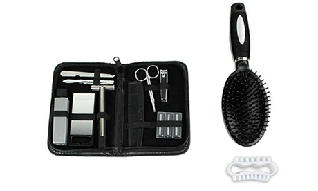 Men's Deluxe 13 Piece Grooming Kit Nail Care Personal Manicure & Pedicure Set