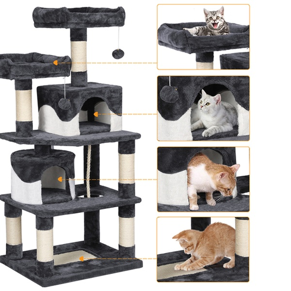 Cat Cave Cat Activity Center Ramp Cat Tower Basket 55.9 Inches ...