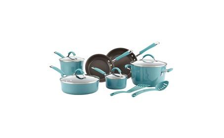 Rachael Ray Cucina Hard Porcelain Enamel Nonstick Cookware Set 90fe452f-e65e-4efa-9ba4-bf5e24f454ae