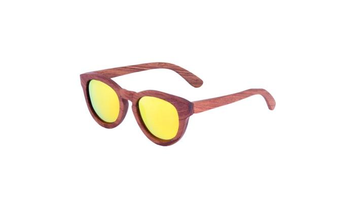 Round Wooden Sunglasses- Ziba Wood: The Ramon – Beech Wood