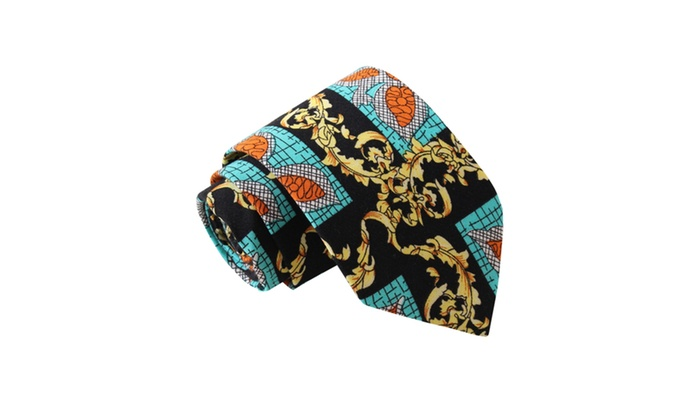 Knot Society Men's Blue Novelty Print Tie