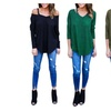Women Sexy Off Shoulder Long Sleeve T-Shirt Tops Casual Slim Blouse
