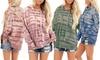 Women's Tie Dye Hoodie Drawstring Pullover Sweatshirt Long Sleeve Tops