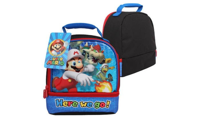 "Super Mario ""Here We Go"" Lunch Bag"