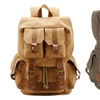 Men's Durable Multi-functional Canvas Camera Travel  Backpack