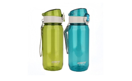 21 Ounce Transparent Water Bottle With Push Bottom Lid b13f72ce-1410-4de7-b675-fcea9e6ab29c