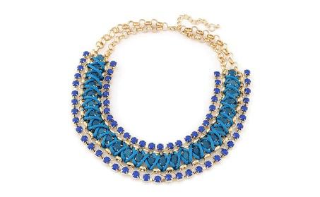 Trendy Rhinestone Statement Collar Chain Necklace for Women 1ae44768-163b-48bc-b4b2-593bc34f9dda
