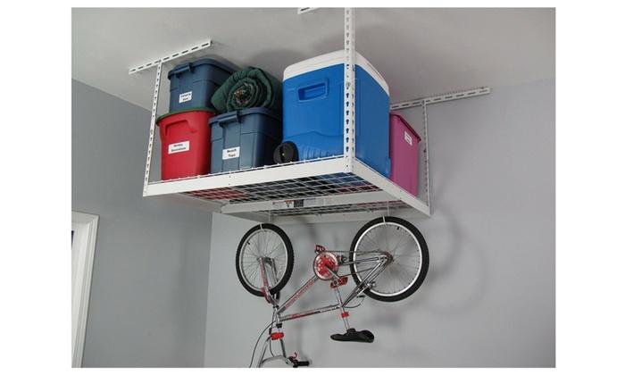 SafeRacks 4×4 Storage Rack – White – 24 to 45 Plus 2 Free Deck Hooks