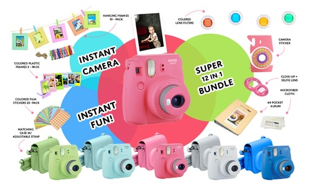 Fujifilm Instax Mini 9 Instand Camera + 20 Pack Film + 15 PCS Bundle 5e38ade5-10a3-4770-85db-a467e1c7fb22